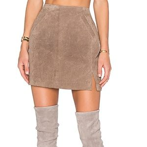 NWT BlankNYC Suede Mini Skirt Midnight Toker
